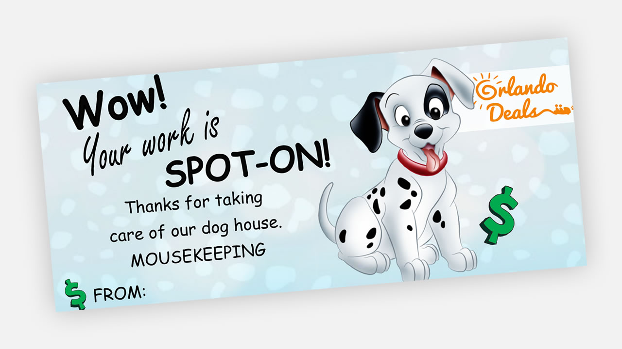 picture about Dalmation Printable named Free of charge Printable Dalmatian Mousekeeping Envelope - Orlando