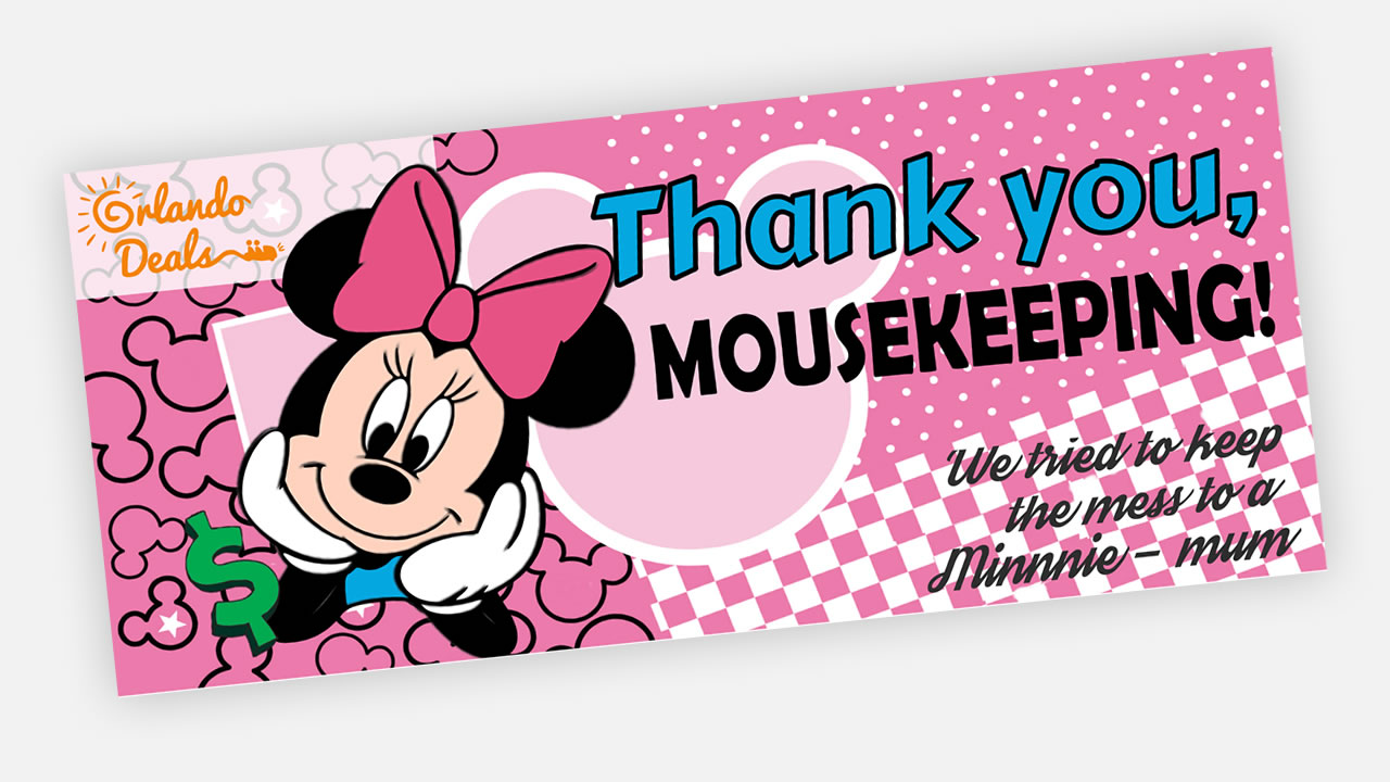 picture about Disney Printable Envelopes identified as No cost Printable Minnie Mousekeeping Envelope - Orlando Bargains British isles